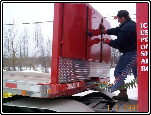 One of our custom tractor trailer headboards